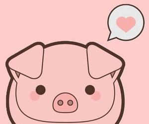 pig, pink, and kawaii image