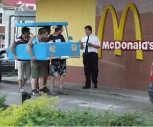 funny, McDonalds, and car image