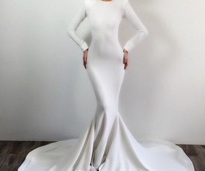 dress, white, and style image