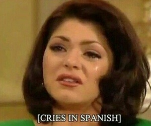 funny, spanish, and cry image