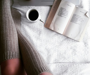 book, kneesocks, and mug image