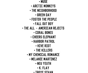 arctic monkeys, bands, and fall out boy image