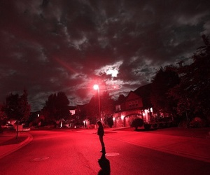 red, grunge, and night image