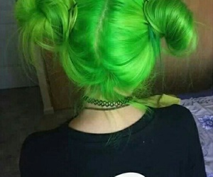 hair, arctic monkeys, and green image