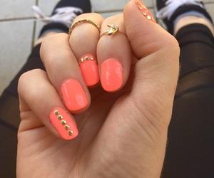 gold, moon, and nails image