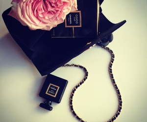 chanel, perfume, and chanel bag image