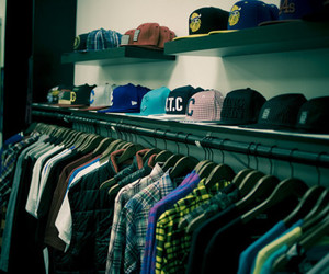 caps, clothes, and skate image