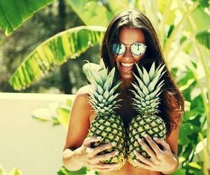 pineapple, summer, and brunette image