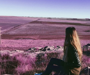 background, girl, and landscape image