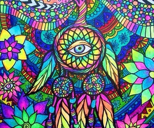 trippy, colorful, and art image