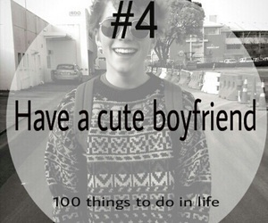 cute, boyfriend, and 100 things to do in life image