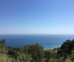 blue, view, and zakynthos image
