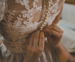 dress, wedding, and pretty image