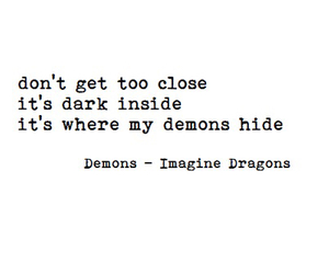 demon, imagine dragons, and quote image