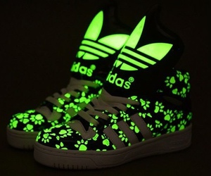 adidas, shoes, and neon image