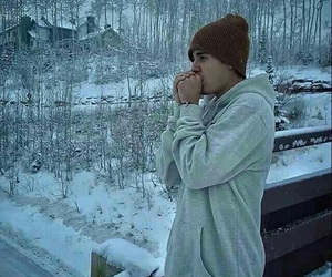 justin bieber, justin, and snow image