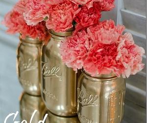 diy, flowers, and jar image