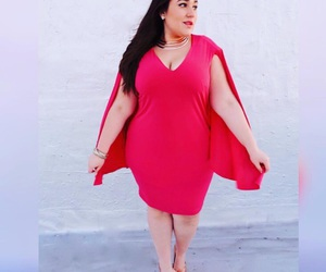 dress, red, and look image
