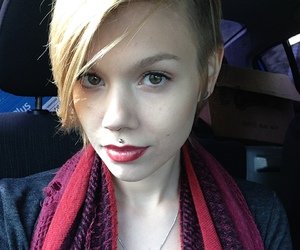 medusa, piercing, and girlswithshorthair image