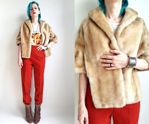 etsy, faux fur stole, and trashed by time image
