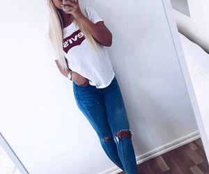 style, fashion, and levis image