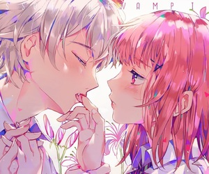 anime, vampire, and couple image