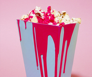 popcorn, pink, and minimalism image