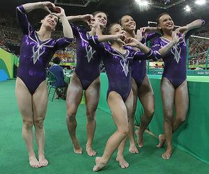 brasil, gymnast, and olympics image