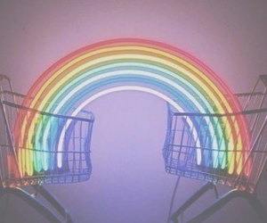 rainbow, grunge, and header image
