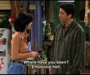 monica geller, ross geller, and emotional hell image