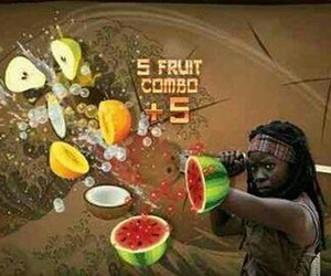 funny, the walking dead, and fruit ninja image