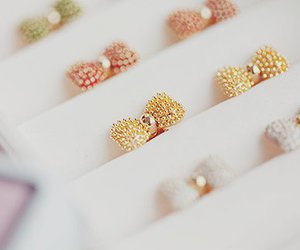 cute, bow, and rings image