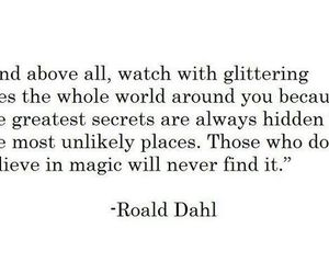 quote, magic, and Roald Dahl image