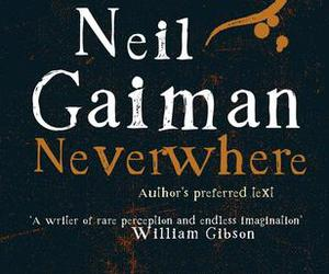 book cover, neverwhere, and Neil Gaiman image