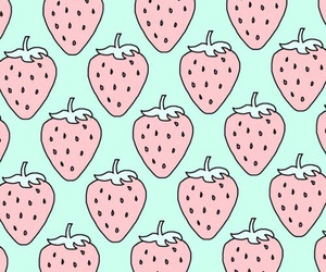 pattern, strawberry, and pink image