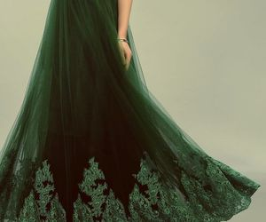 green, dress, and slytherin image