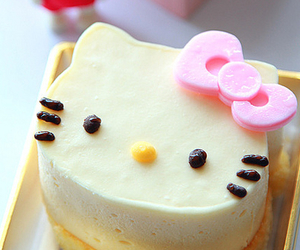 hello kitty, cute, and cake image