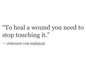 quote, wound, and heal image