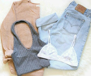 jeans, sweater, and outfits image
