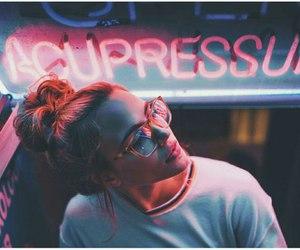 girl, tumblr, and glasses image