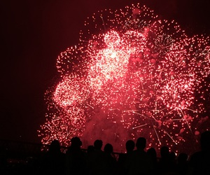 fireworks, summer, and 花火 image
