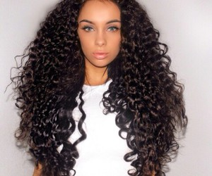 hair, beautiful, and curly hair image