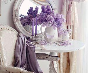 flowers, decor, and purple image