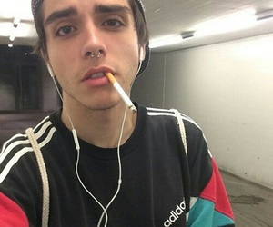 boy, tumblr, and cigarette image