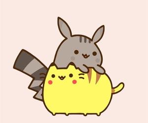 pikachu, pusheen, and pokemon image