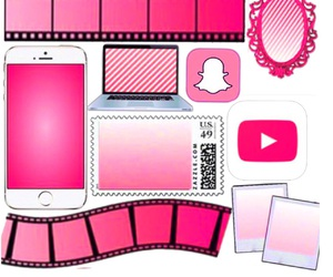 pink, templates, and pink overlays image