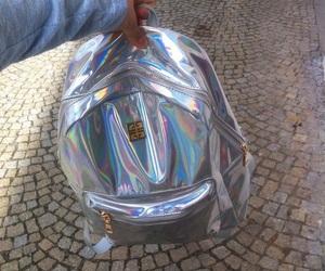 bag, holographic, and tumblr image