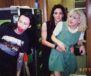 Courtney Love, Marilyn Manson, and twiggy ramirez image