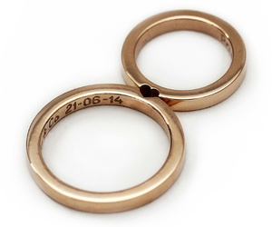 couple, love, and rings image