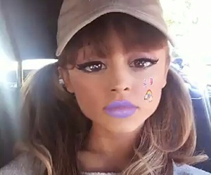 ariana grande, celebrity, and filter image
